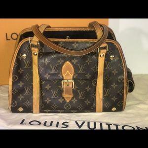 Authentic Louis Vuitton sac Baxter pm dog carrier